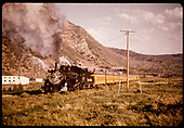 D&amp;RGW #483 K-36 RMRRC excursion to Chama train east bound out of Durango.<br /> D&amp;RGW  Durango, CO  5/30/1966