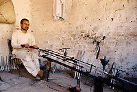 Producing Pakistani made Kalashnikov cannons. Darra town in Pakistan clandestinely provides arms to more than eight Central Asian countries.