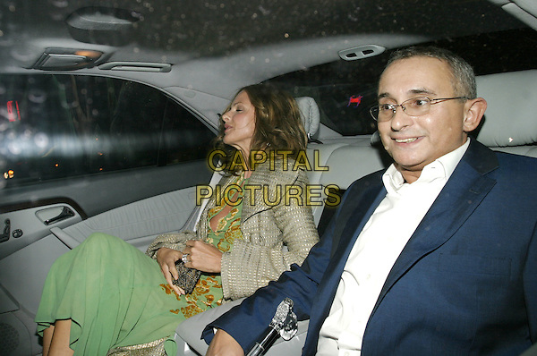 "TRINNY WOODALL & HUSBAND.Leaving the Opening Night and World Premiere of new musical ""Billy Elliot"", at the Victoria Palace Theatre, London, May 12th 2005..half length in car shot.Ref: AH.www.capitalpictures.com.sales@capitalpictures.com.©Adam Houghton/Capital Pictures."