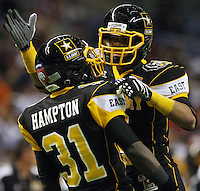 East's Victor Hampton, left and Keenan Allen celebrate a play during the U.S. Army All-American Bowl, Saturday, Jan. 9, 2010, at the Alamodome in San Antonio. (Darren Abate/pressphotointl.com)