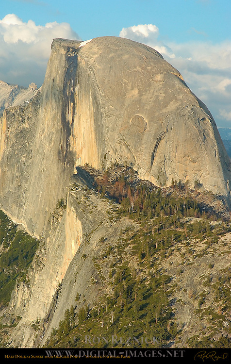 Half Dome at Sunset in Spring, Glacier Point, Yosemite National Park