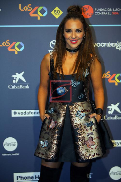Los 40 MUSIC Awards 2016 - Photocall.<br /> Paula Echevarria.