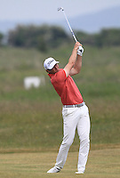 Robbie Cannon (Balbriggan) on the 2nd during Round 4 of the East of Ireland Amateur Open Championship sponsored by City North Hotel at Co. Louth Golf club in Baltray on Monday 6th June 2016.<br /> Photo by: Golffile   Thos Caffrey