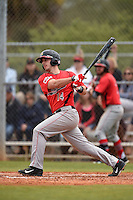 Illinois State Redbirds Paul DeJong (14) during a game against the Georgetown Hoyas on March 7, 2015 at North Charlotte Regional Park in Port Charlotte, Florida.  Illinois State defeated Georgetown 2-1.  (Mike Janes/Four Seam Images)