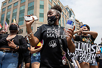 Kindalin Smith, 17, dances in the streets during a march against police brutality and racism in Washington, D.C. on Saturday, June 6, 2020.<br /> Credit: Amanda Andrade-Rhoades / CNP/AdMedia