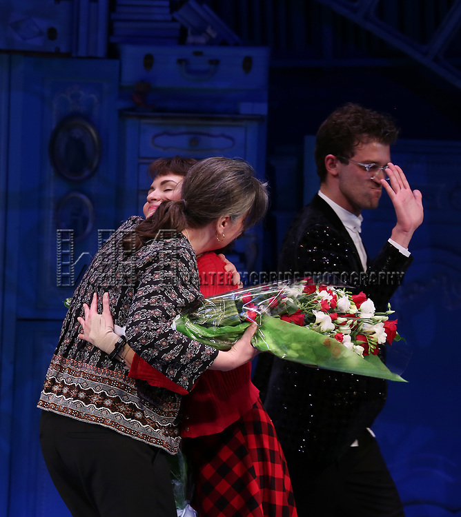 Pam MacKinnon, Phillipa Soo and Sam Pinkleton during the Broadway Opening Night Performance Curtain Call for 'Amelie' at the Walter Kerr Theatre on April 3, 2017 in New York City