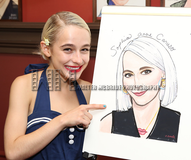 Sophia Anne Caruso during the Sophia Anne Caruso Sardi's Portrait Unveiling at Sardi's on July 10, 2019 in New York City.