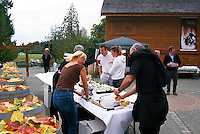 The Oyster Bar at Cherry Point Vineyards, at the Cowichan Valley Wine & Culinary Festival, on Vancouver Island, British Columbia, Canada