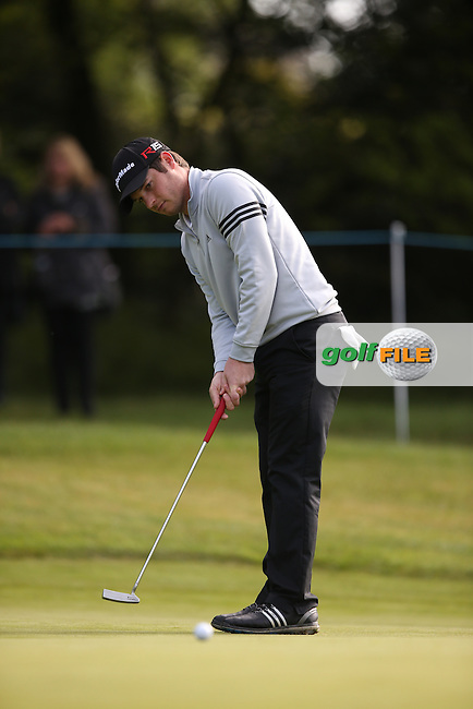 Sam Hutsby (ENG) during Round One of the 2015 BMW PGA Championship over the West Course at Wentworth, Virginia Water, London. Picture David Lloyd, www.golffile.ie: 21/05/2015