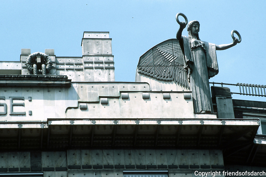 Otto Wagner: Postal Savings Bank, Vienna. Aluminum sculpture.