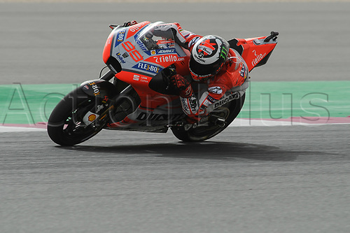 17th March 2018, Losail International Circuit, Lusail, Qatar; Qatar Motorcycle Grand Prix, Saturday qualifying; Jorge Lorenzo (Ducati)