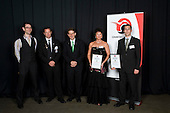 Referee/ Umpire of the Year finalists Tony Hill, Mark Banicevich, Shelly Boyes, Leon Williamson & Craig Bartlett with Papakura City Mayor Calum Penrose. Counties Manukau Sport 17th annual Sporting Excellence Awards held at the Telstra Clear Pacific Events Centre, Manukau City, on November 27th 2008.
