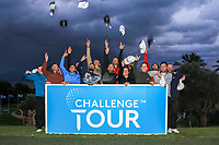The 15 graduates to the European Tour at the Challenge Tour Grand Final 2019 at Club de Golf Alcanada, Port d'Alcúdia, Mallorca, Spain on Sunday 10th November 2019.<br /> Picture:  Thos Caffrey / Golffile<br /> <br /> Connor Syme, Cormac Sharvin, Calum Hill, Sebastian Garcia Rodriguez, Ricardo Santos, Francesco Laporta, Adrian Meronk, Oliver Farr, Sebastian Heisele, Darius Van Driel, Jack Senior, Matthew Jordan, Antoine Rozner, Richard Bland and Robin Roussel.<br /> <br /> All photo usage must carry mandatory copyright credit (© Golffile | Thos Caffrey)