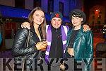Rachel Godley (Ballymac), John Counihan (Abbeydorney) and Deirdre Vanderkrogt (Macroom) enjoying the Freshers Fest in the Square on Tuesday night..