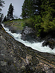 Waterfall on Pass Creek in Kootenay Mountains, British Columbia, Canada