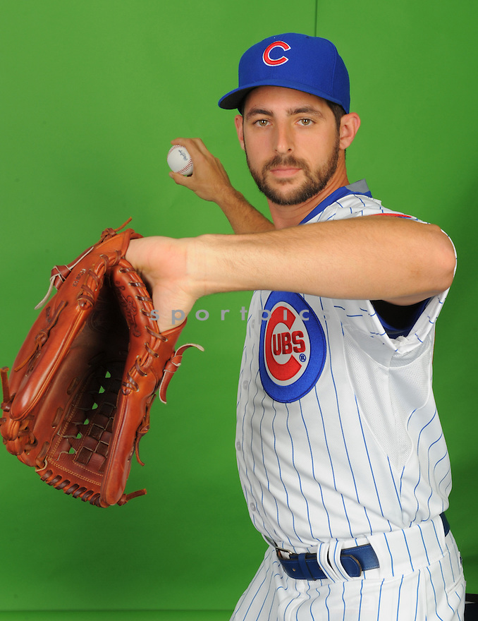 Chicago Cubs Donn Roach (62) during photo day on March 2, 2015 in Mesa, AZ.