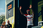 Thomas De Gendt (BEL) Lotto-Soudal from the breakaway wins Stage 8 of the 2019 Tour de France running 200km from Macon to Saint-Etienne, France. 13th July 2019.<br /> Picture: ASO/Thomas Maheux | Cyclefile<br /> All photos usage must carry mandatory copyright credit (© Cyclefile | ASO/Thomas Maheux)