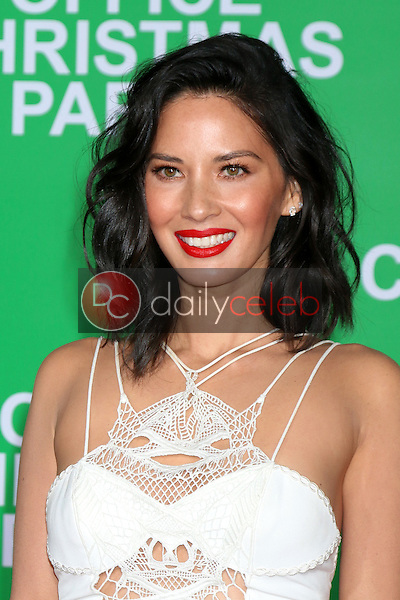 "Olivia Munn<br /> at the ""Office Christmas Party"" Premiere, Village Theater, Westwood, CA 12-07-16<br /> David Edwards/DailyCeleb.com 818-249-4998"
