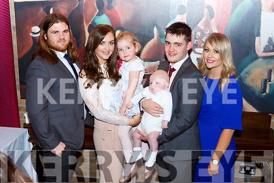 Little Myles Judge Londaon celebrated his christening with his parents Terri Stack (originally Castleisland) and Max Judge and god parents Karen Stack and Lee Woolford in the Brehon Hotel Killarney on Saturday