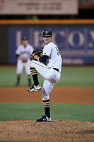 Bradenton Marauders relief pitcher Brandon Cumpton (54) delivers a pitch during the second game of a doubleheader against the Tampa Yankees on June 14, 2017 at LECOM Park in Bradenton, Florida.  Tampa defeated Bradenton 5-1.  (Mike Janes/Four Seam Images)