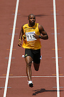 Asafa Powell of Jamaica looking at the video boardduring his 1st. round heat in the 100m dash with a time of 10.34sec. at the 11th. IAAF World Championships held in Osaka,Japan on Saturday August 25, 2007. Photo by Errol Anderson,The Sporting Image.Assorted images of the 11th. World  Track and Field Championships held in Osaka, Japan.