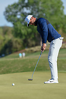 Lucas Bjerregaard (DEN) watches his putt on 15 during day 5 of the WGC Dell Match Play, at the Austin Country Club, Austin, Texas, USA. 3/31/2019.<br /> Picture: Golffile | Ken Murray<br /> <br /> <br /> All photo usage must carry mandatory copyright credit (&copy; Golffile | Ken Murray)