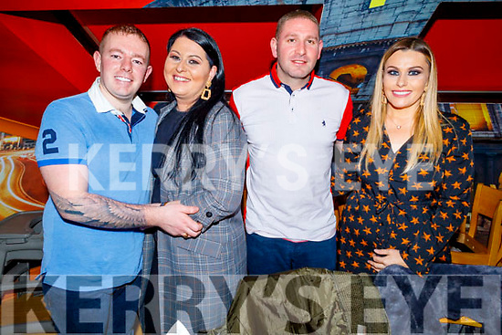 Jason Carroll, Lynn Culloty, Paul Turner and Lisa O'Shea enjoying the evening out in Ristourante Uno on Saturday