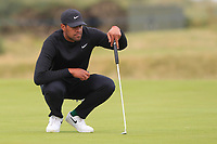 Tony Finau (USA) on the 14th green during Round 4 of the Alfred Dunhill Links Championship 2019 at St. Andrews Golf CLub, Fife, Scotland. 29/09/2019.<br /> Picture Thos Caffrey / Golffile.ie<br /> <br /> All photo usage must carry mandatory copyright credit (© Golffile | Thos Caffrey)
