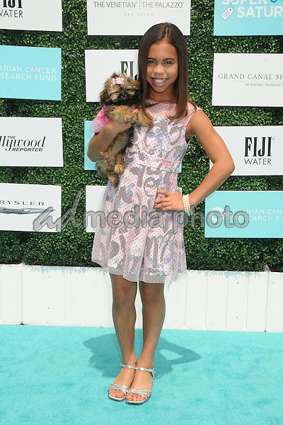 16 May 2015 - Santa Monica, California - Asia Monet Ray. 2nd Annual OCRF Super Saturday LA held at Barker Hangar. Photo Credit: Byron Purvis/AdMedia