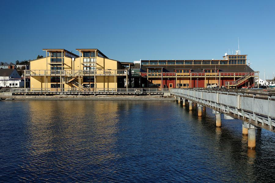 Northwest Maritime Center, Port Townsend waterfront, Jefferson County, Washington, USA