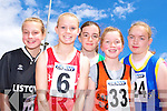 Shannon Dagnun Listowel, Iseult Ni? Bhuachalle Blennerville, Aoife Behan Ballydonoghue, Ciara O'Doherty Rathmore/ Gneeveguilla and Mary O'Donoghue Killarney participating at the Denny County Community Games in An Riocht Castleisland on Sunday    .