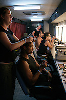 Carlos Acosta and other dancers of Royal Ballet Covent Garden backstage at the Aspendos Theatre, Antalya, Turkey