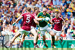 Kieran Donaghy Kerry in action against David Walsh Galway in the All Ireland Senior Football Quarter Final at Croke Park on Sunday.