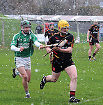 30/1/2016  Barry Murphy St. Colman's College, in action against Jack Delahunty, Ard Scoil Ris. St. Colman's College v Ard Scoil Ris, Harty Cup Semi-Final, Killmallock, Co. Limerick <br /> Picture Credit: Gareth Williams /  Press 22