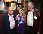 Ehud Laska, Bonnie Comley and Stewart F. Lane attend the UMass Lowel Cockail Party for 'Sunset Boulevard' hosted by Chancellor Jacquie Moloney, Bonnie Comley and Stewart F. Lane at Sardi's on April 5, 2017 in New York City