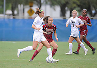 Florida International University women's soccer player Chelsea Leiva (2) plays against the University of Denver on October 16, 2011 at Miami, Florida. FIU won the game 1-0. .