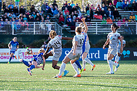 Boston, MA - Sunday May 07, 2017: Julie King and Jessica McDonald during a regular season National Women's Soccer League (NWSL) match between the Boston Breakers and the North Carolina Courage at Jordan Field.