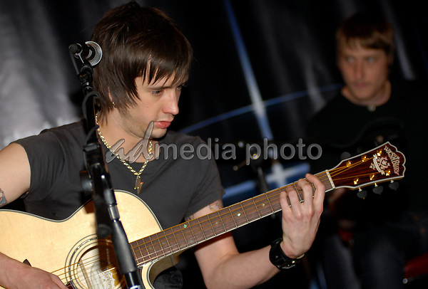 21 June 2006 - New York, NY - Nick Wheeler, Chris Gaylor. The All-American Rejects perform at Virgin Megastore Times Square. Photo Credit: Paul Hawthorne/AdMedia   *** Local Caption ***