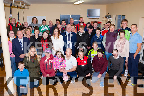 The large crowd at the new gym opened by former Kerry great Sean O'Sullivan and Jerry Coffey at Callinafercy Pier rowing club on Saturday