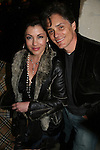 Julie Pinson and Billy Warlock came to see the off Broadway play Irish Curse at the SoHo Playhouse, New York City, New York on April 16, 2010. (Photos by Sue Coflin/Max Photos)