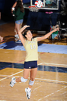 12 October 2008:  FIU defensive specialist Mariana Drumeva (10) serves in the FIU victory 3-0 (25-18, 25-17, 25-20) over North Texas at Panther Arena in Miami, Florida.