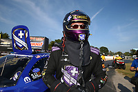 Sep 3, 2017; Clermont, IN, USA; NHRA funny car driver Jack Beckman after winning the Traxxas Shootout specialty race during qualifying for the US Nationals at Lucas Oil Raceway. Mandatory Credit: Mark J. Rebilas-USA TODAY Sports