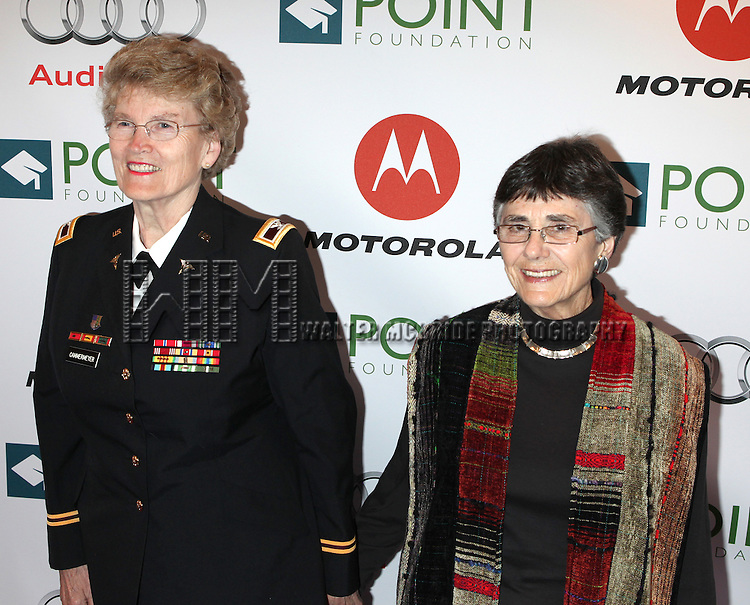 Margarethe Cammermeyer & Diane Divelbess.attending the Point Foundation's Fourth Annual Gala - Point Honors New York in New York City.