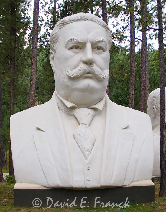 William H. Taft bust by sculptor David Adickes at Presidents Park in Lead South Dakota