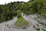 The breakaway in action during Stage 17 of the 2019 Giro d'Italia, running 181km from Commezzadura (Val di Sole) to Anterselva / Antholz, Italy. 29th May 2019<br /> Picture: Fabio Ferrari/LaPresse | Cyclefile<br /> <br /> All photos usage must carry mandatory copyright credit (© Cyclefile | Fabio Ferrari/LaPresse)