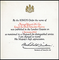 BNPS.co.uk (01202 558833)Pic: Spink&amp;Son/BNPS<br /> <br /> Certificate address to Christopher Lee for his services in the Royal Airforce.<br /> <br /> Fifty medals and honours which were awarded to the legendary late actor Sir Christopher Lee have emerged for sale.<br /> <br /> During his glittering 70 year career, the acting behemoth graced our screens as Lord Summerisle in the The Wicker Man, Count Dracula in the Hammer films and Saruman in the Lord of the Rings trilogy.<br /> <br /> Other memorable roles included Scaramanga in the James Bond film The Man with the Golden Gun and Count Dooku in Star Wars. <br /> <br /> But before he found fame he served his country as a young RAF officer in the Second World War, earning mentions in despatches for gallant and distinguished service.