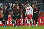 30.11.2019, RheinEnergieStadion, Koeln, GER, 1. FBL, 1.FC Koeln vs. FC Augsburg,<br />  <br /> DFL regulations prohibit any use of photographs as image sequences and/or quasi-video<br /> <br /> im Bild / picture shows: <br /> Torjubewl Augsburg<br /> <br /> Foto © nordphoto / Meuter