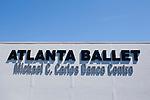 The sign at the newly-opened Atlanta Ballet Michael C. Carlos Dance Centre in Atlanta, Georgia September 13, 2010.