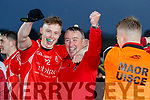 Padraig De Brun, and East Kerry Manager Jerry O'Sullivan after the Kerry County Senior Club Football Championship Final match between East Kerry and Dr. Crokes at Austin Stack Park in Tralee, Kerry.
