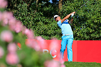 Ashun Wu (CHN) on the 2nd tee during the final round at the WGC HSBC Champions 2018, Sheshan Golf CLub, Shanghai, China. 28/10/2018.<br /> Picture Fran Caffrey / Golffile.ie<br /> <br /> All photo usage must carry mandatory copyright credit (&copy; Golffile | Fran Caffrey)